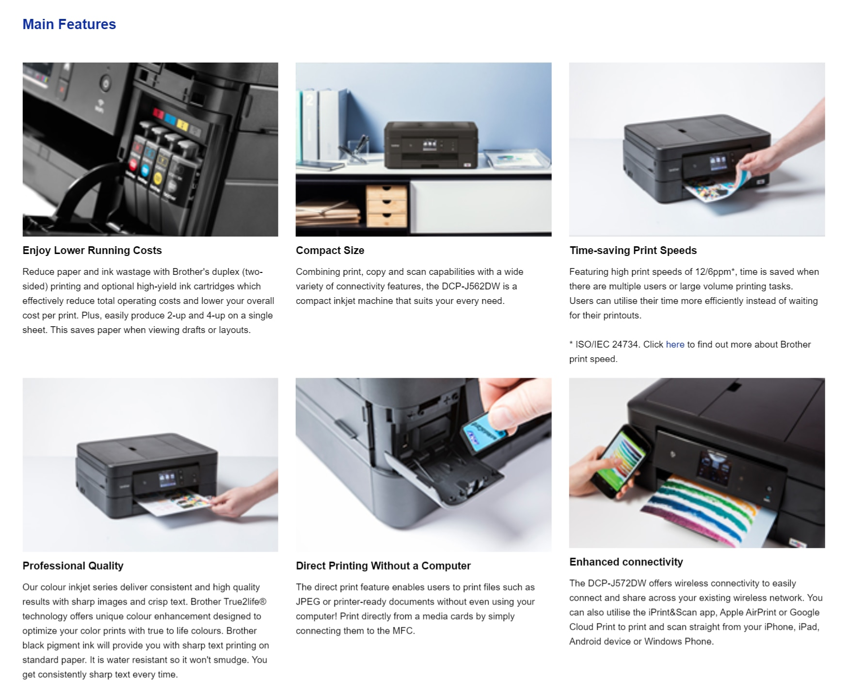 BROTHER DCPJ572DW All in one Color Inkjet Printer